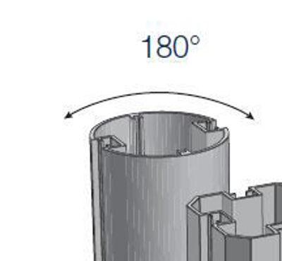 Slika Alusign Outdoor okrogel steber, 2 utora