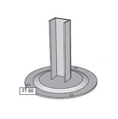 Slika Alusign Outdoor noga za okrogel steber, 1 utor