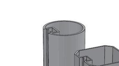 Slika Alusign Outdoor okrogel steber, 1 utor