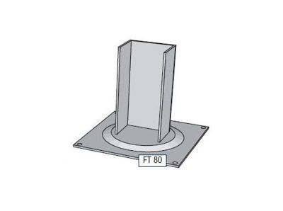 Slika Alusign Outdoor noga za oglat steber, 1 utor