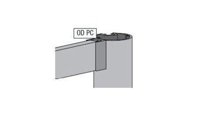 Slika Alusign Outdoor profil za dodatni utor okrogle noge
