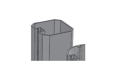 Slika Alusign Outdoor oglat steber, 1 utor