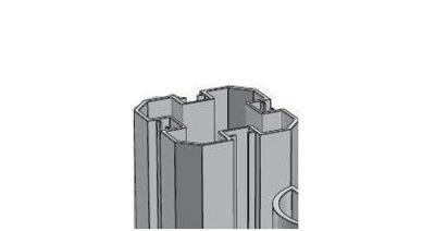 Slika Alusign Outdoor oglat steber, 4 utori